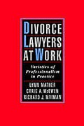 Cover of Divorce Lawyers at Work