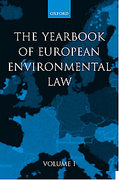 Cover of Yearbook of European Environmental Law: Vol 1