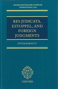 Cover of Res Judicata, Estoppel and Foreign Judgments