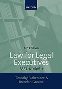 Cover of Law for Legal Executives: Part 1, Year 1: