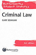 Cover of Butterworths Student Statutes: Criminal Law