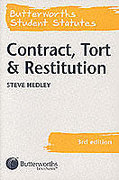 Cover of Butterworths Student Statutes: Contract, Tort and Restitution