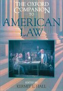 Cover of The Oxford Companion to American Law