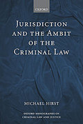 Cover of Jurisdiction and the Ambit of the Criminal Law