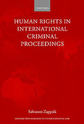 Cover of Human Rights in International Criminal Proceedings