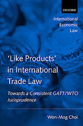Cover of Like Products in International Trade Law