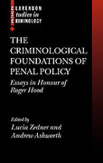 Cover of The Criminological Foundations of Penal Policy