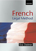 Cover of French Legal Method