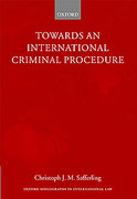 Cover of Towards an International Criminal Procedure