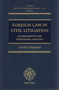 Cover of Foreign Law in Civil Litigation: A Comparative and Functional Analysis