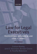 Cover of Law for Legal Executives: Professional Diploma in Law: Level 3, Year 2: