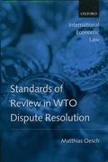 Cover of Standards of Review in WTO Dispute Resolution