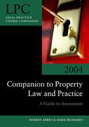 Cover of LPC Companion to Property Law and Practice: A Guide to Assessment