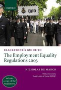 Cover of Blackstone's Guide to the Employment Equality Regulations 2003