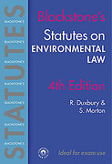 Cover of Blackstone's Statutes on Environmental Law