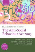 Cover of Blackstone's Guide to the Anti-Social Behaviour Act 2003