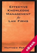 Cover of Effective Knowledge Management for Law Firms (eBook)