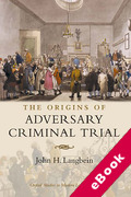 Cover of The Origins of Adversary Criminal Trial (eBook)