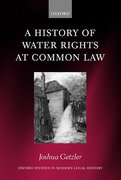 Cover of A History of Water Rights at Common Law