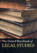 Cover of The Oxford Handbook of Legal Studies