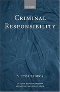 Cover of Criminal Responsibilty