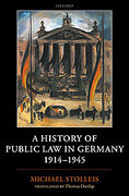 Cover of A History of Public Law in Germany 1914-1945