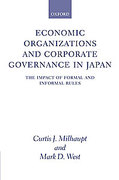 Cover of Economic Organizations and Corporate Governance in Japan