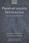 Cover of Proportionate Sentencing: Exploring the Principles
