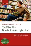 Cover of Blackstone's Guide to the Disability Discrimination Legislation