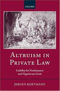 Cover of Altruism in Private Law: Liability for Nonfeasance and Negotiorum Gestio