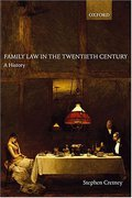 Cover of Family Law in the Twentieth Century: A History