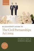 Cover of Blackstone's Guide to The Civil Partnerships Act 2004