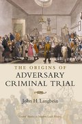 Cover of The Origins of Adversary Criminal Trial