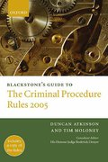 Cover of Blackstone's Guide to the Criminal Procedure Rules 2005