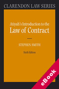 Cover of Atiyah's Introduction to the Law of Contract (eBook)