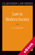 Cover of Law in Modern Society (eBook)