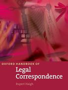Cover of Oxford Handbook of Legal Correspondence