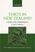Cover of Torts In New Zealand: Cases and Materials