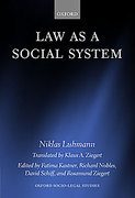 Cover of Law as a Social System