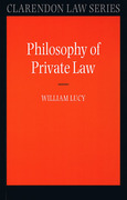 Cover of Philosophy of Private Law