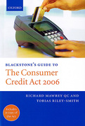 Cover of Blackstone's Guide to The Consumer Credit Act 2006