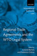 Cover of Regional Trade Agreements and the WTO Legal System