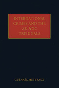 Cover of International Crimes and the Ad Hoc  Tribunals