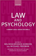 Cover of Current Legal Issues Volume 9: Law and Psychology