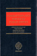 Cover of Corruption and Misuse of Public Office
