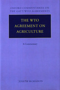 Cover of The WTO Agreement on Agriculture: A Commentary