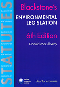 Cover of Blackstone's Statutes on Environmental Legislation