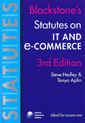 Cover of Blackstone's Statutes on IT and E-commerce