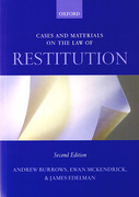 Cover of Cases and Materials on the Law of Restitution
