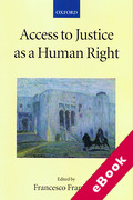 Cover of Access to Justice as a Human Right (eBook)